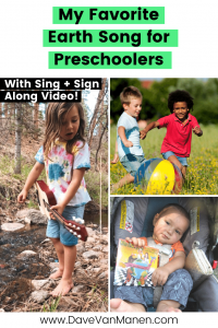 My Favorite Earth Song for Preschoolers Pin